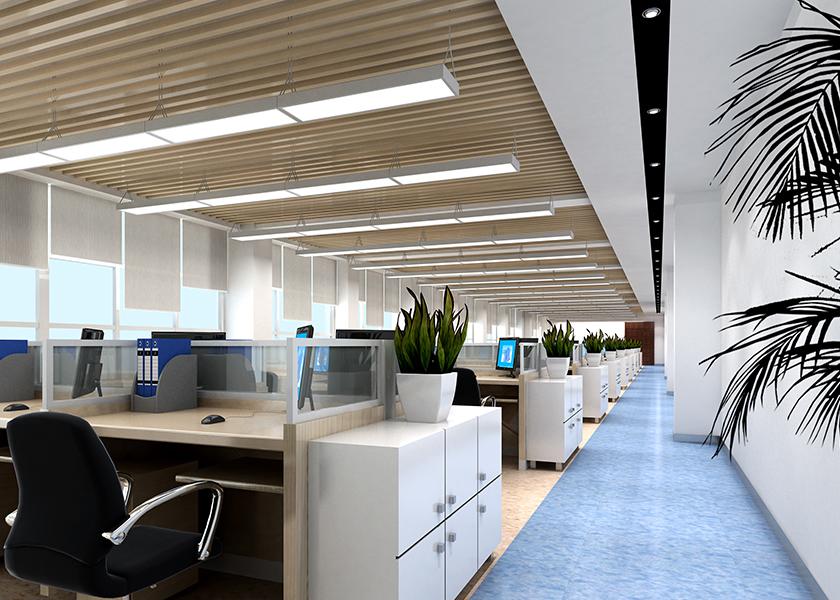 锦州汉拿电机有限公司二层开敞办公区